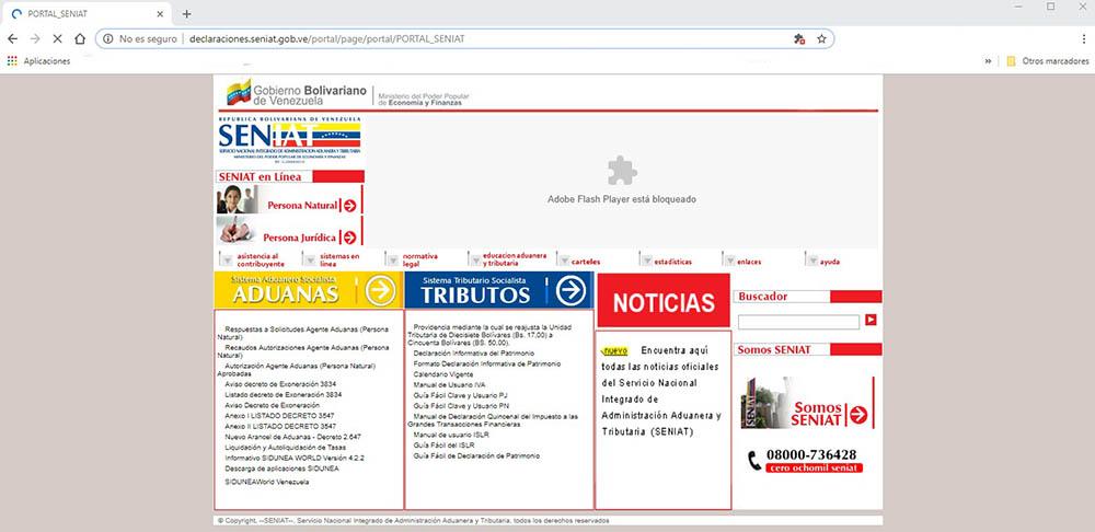 Cómo registrarse en la página del SENIAT