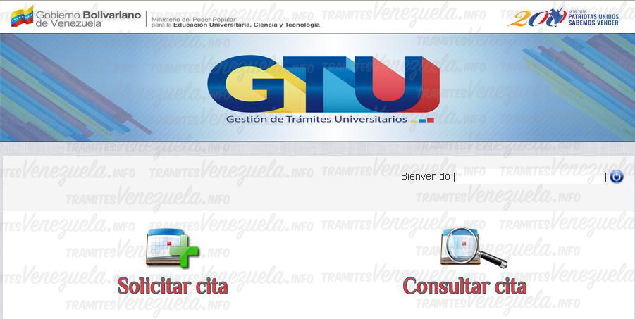 Solicitar cita en GTU