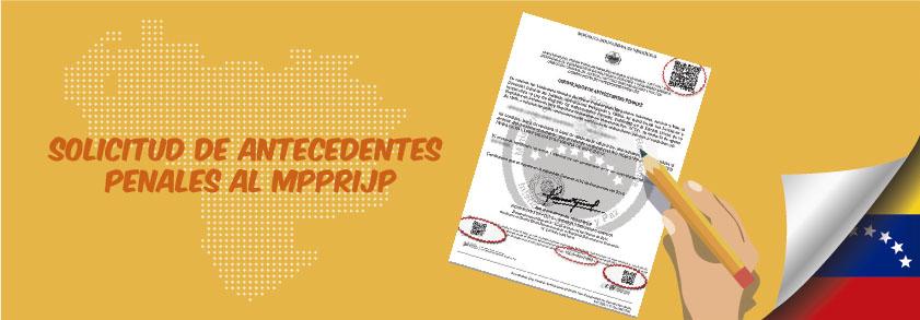 solicitud de antecedentes penales MPPRIJP