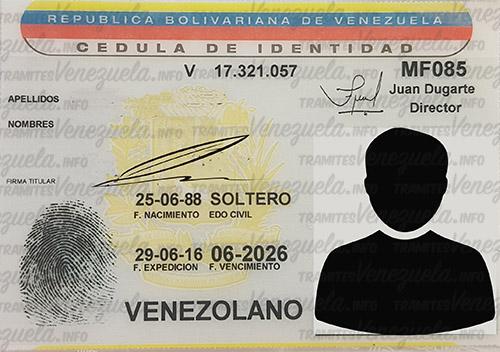 SAIME - cédula de identidad en Venezuela