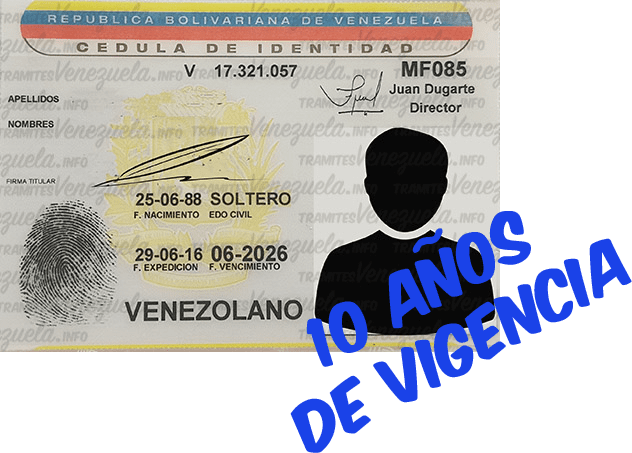 cédula de identidad vigencia de 10 años