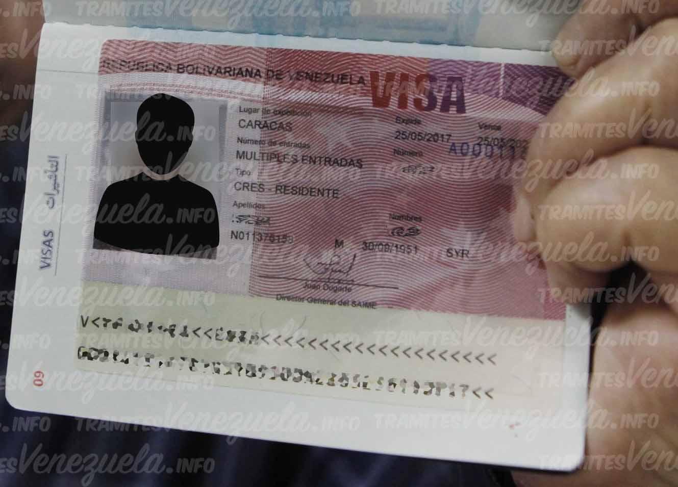visado venezolano para extranjeros