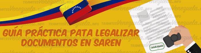 SAREN legalización de documentos