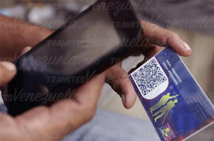 escanear carnet de la patria para el bono navideño de bono