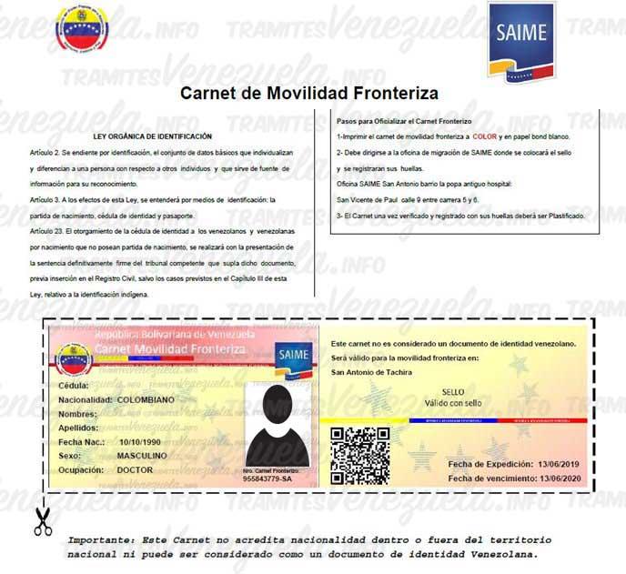 Documento de movilidad fronteriza