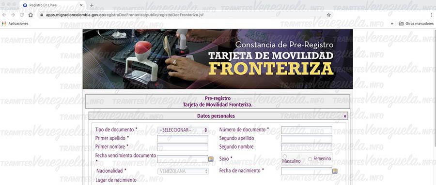 carnet fronterizo migración Colombia