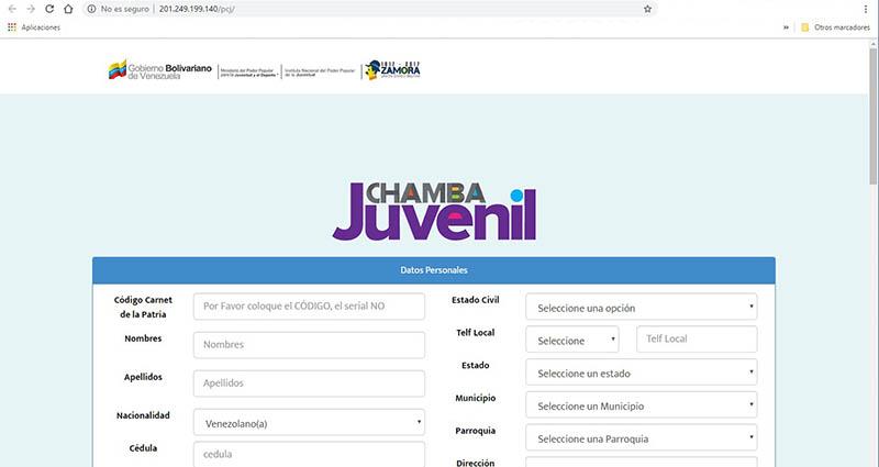 registro plan chamba juvenil web